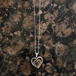 Kay Jewelers Blue Heart Shaped Necklace